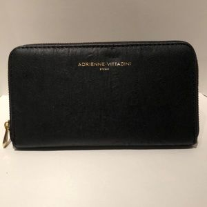 NWT Black faux leather wallet with RFID protection